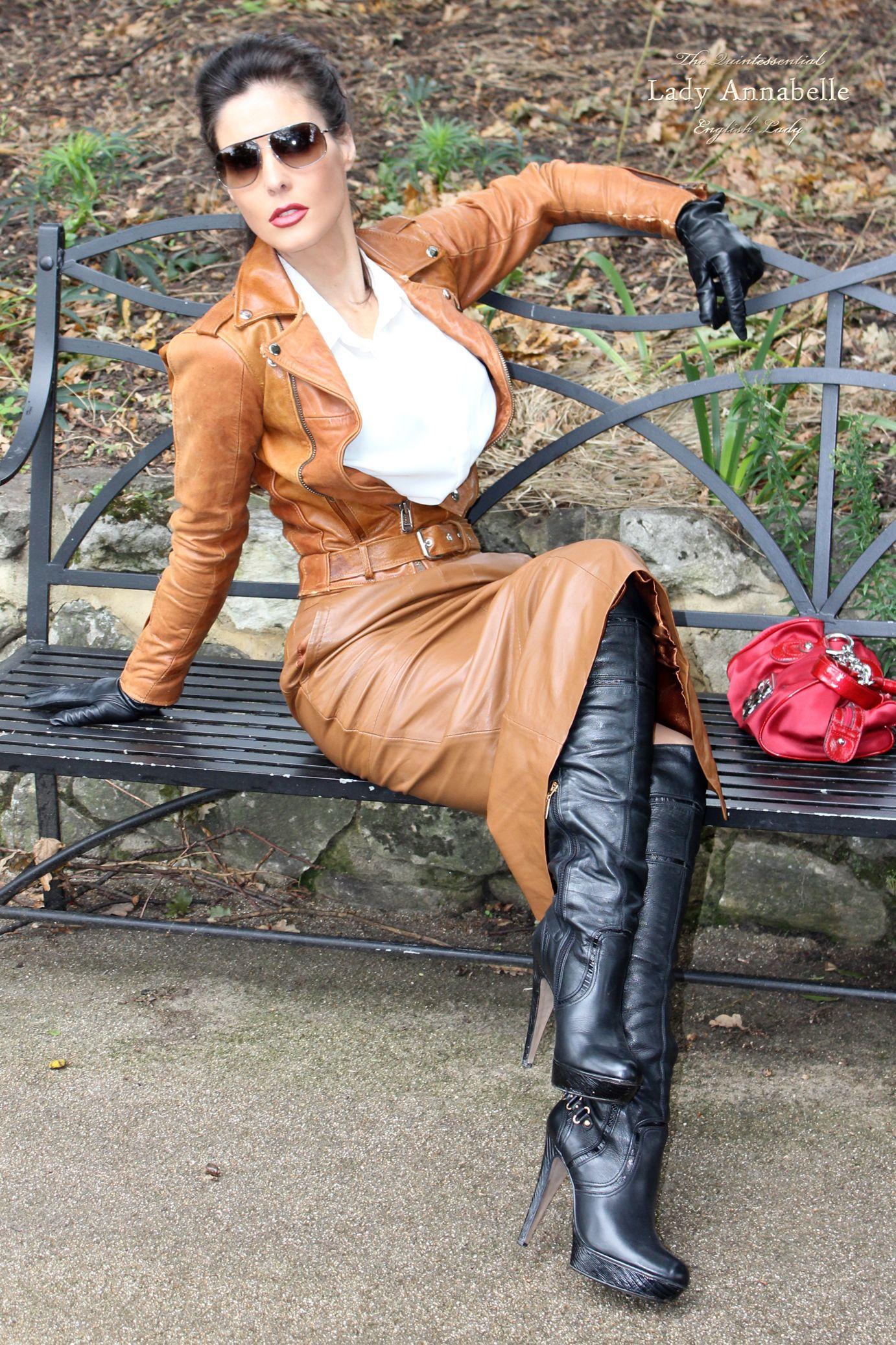 Lady Annabelle Adorned In Her Favourite Leather Outfit