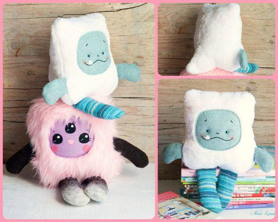 PDF pattern. Cute monsters. Plush Doll Pattern, Softie Pattern, Soft ...