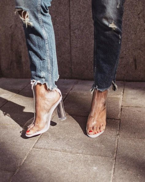 design de qualité 90c6b 7838e Comment porter les boots transparentes ? | MODE | Chaussure ...