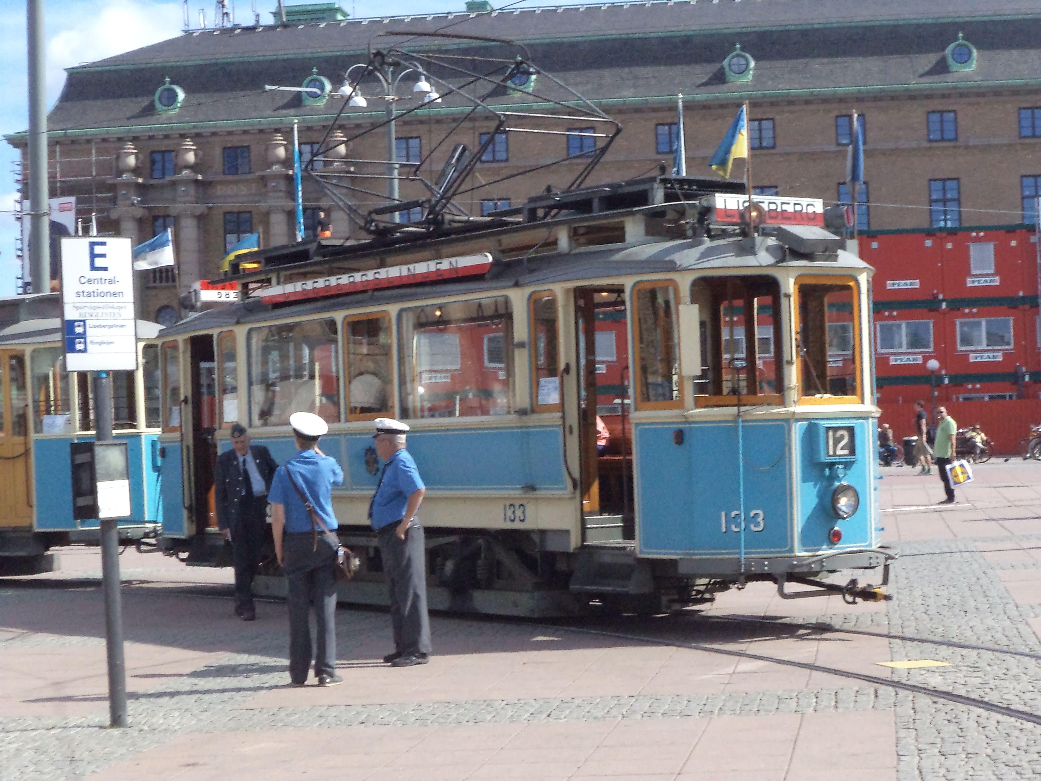 Gamle spårvagn i Göteborg