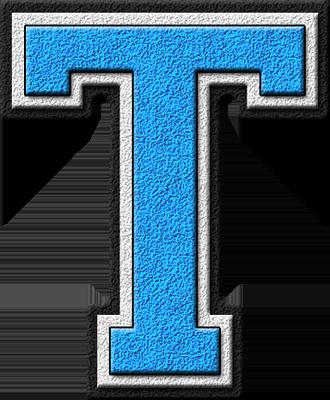 Presentation Alphabets Light Blue Varsity Letter T Lettering Alphabet Varsity Letter Alphabet Letters Images