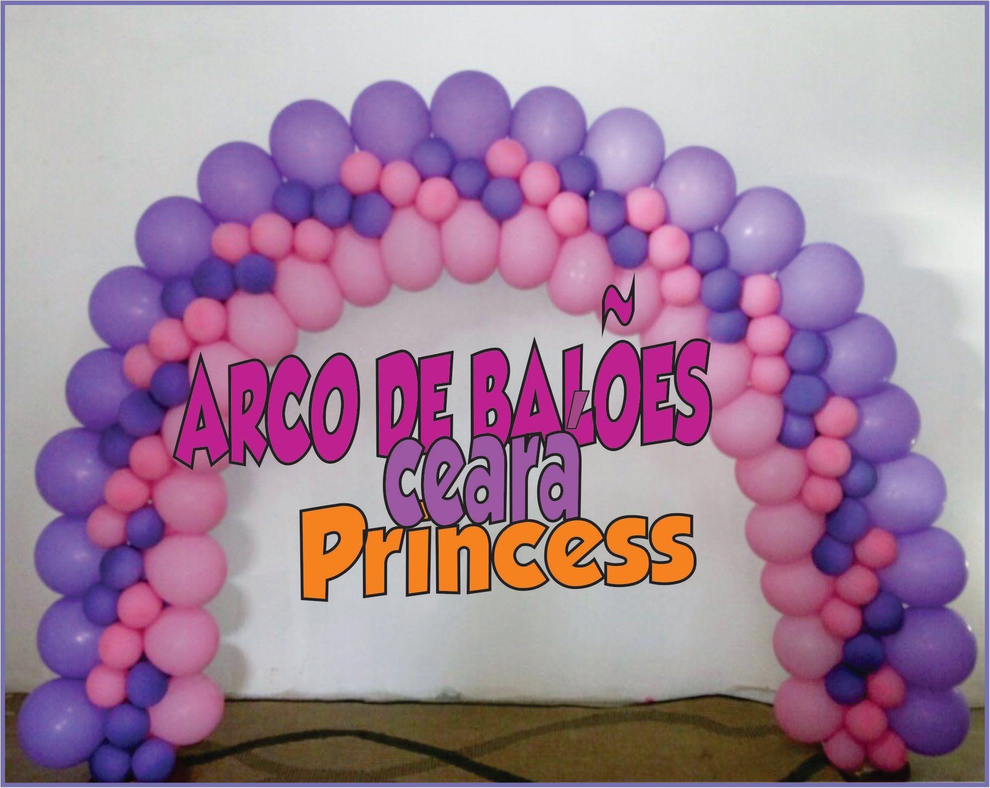 Como Fazer Arco De Baloes Princess Globos Como Decorar Con