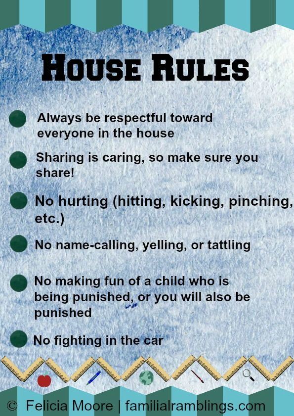 house rules blue to help prevent sibling rivalry parenting  house rules blue to help prevent sibling rivalry