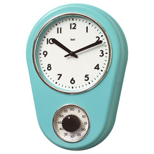 Delicieux Retro Turquoise Kitchen Timer Wall Clock Bai Design Wall Mounted Clock  Clocks Home Decor