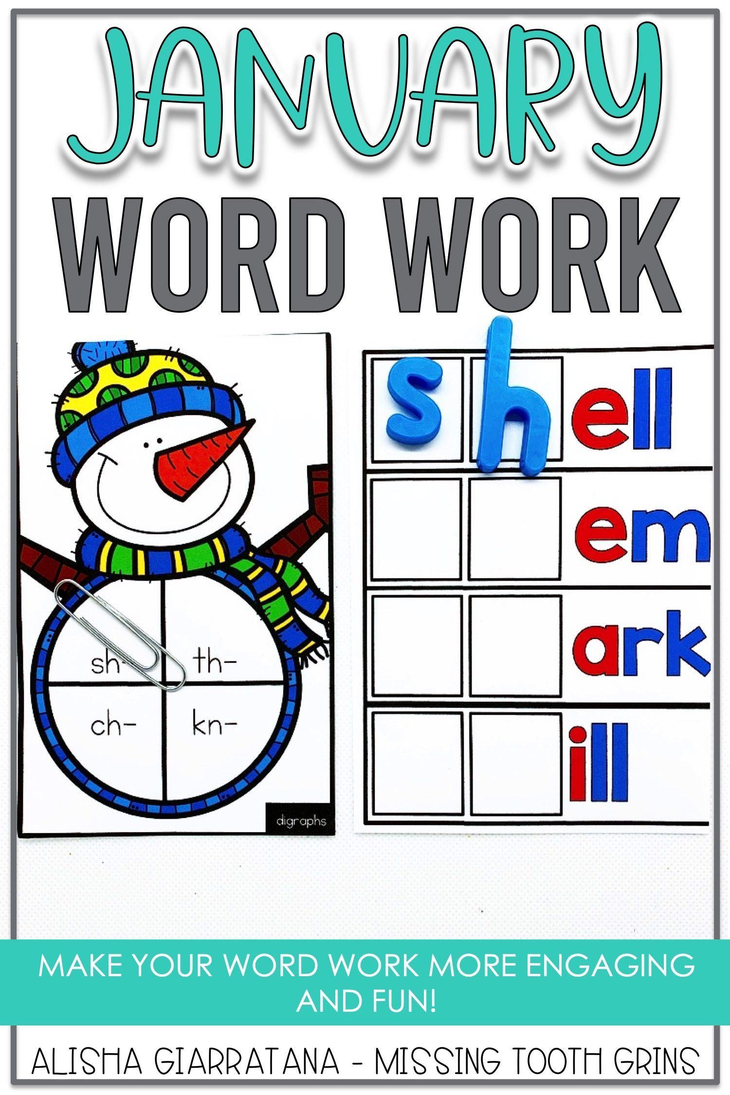 Word Work Center January In