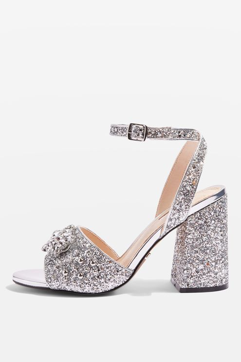 7167ba0f43 Razzle Glitter Block Heel Sandals   shoes   Heels, Shoes heels, Sandals
