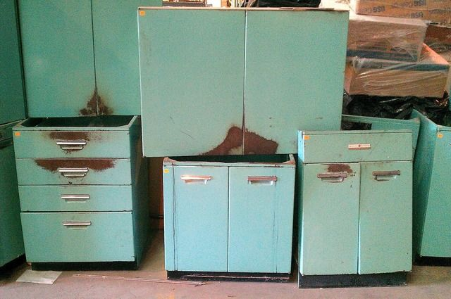 Antique Metal Kitchen Cabinets Theastronomycafe