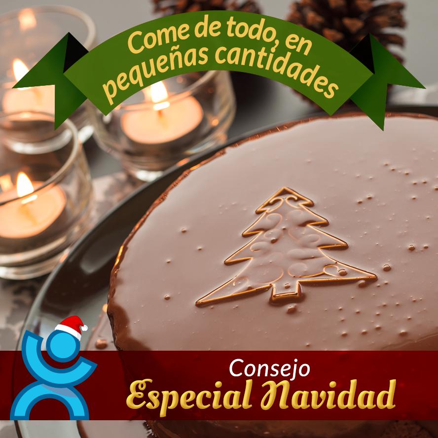 En #Navidad es normal comer gran variedad de comidas y postres típicos de estas fiestas, recuerda tomarlos con moderación
