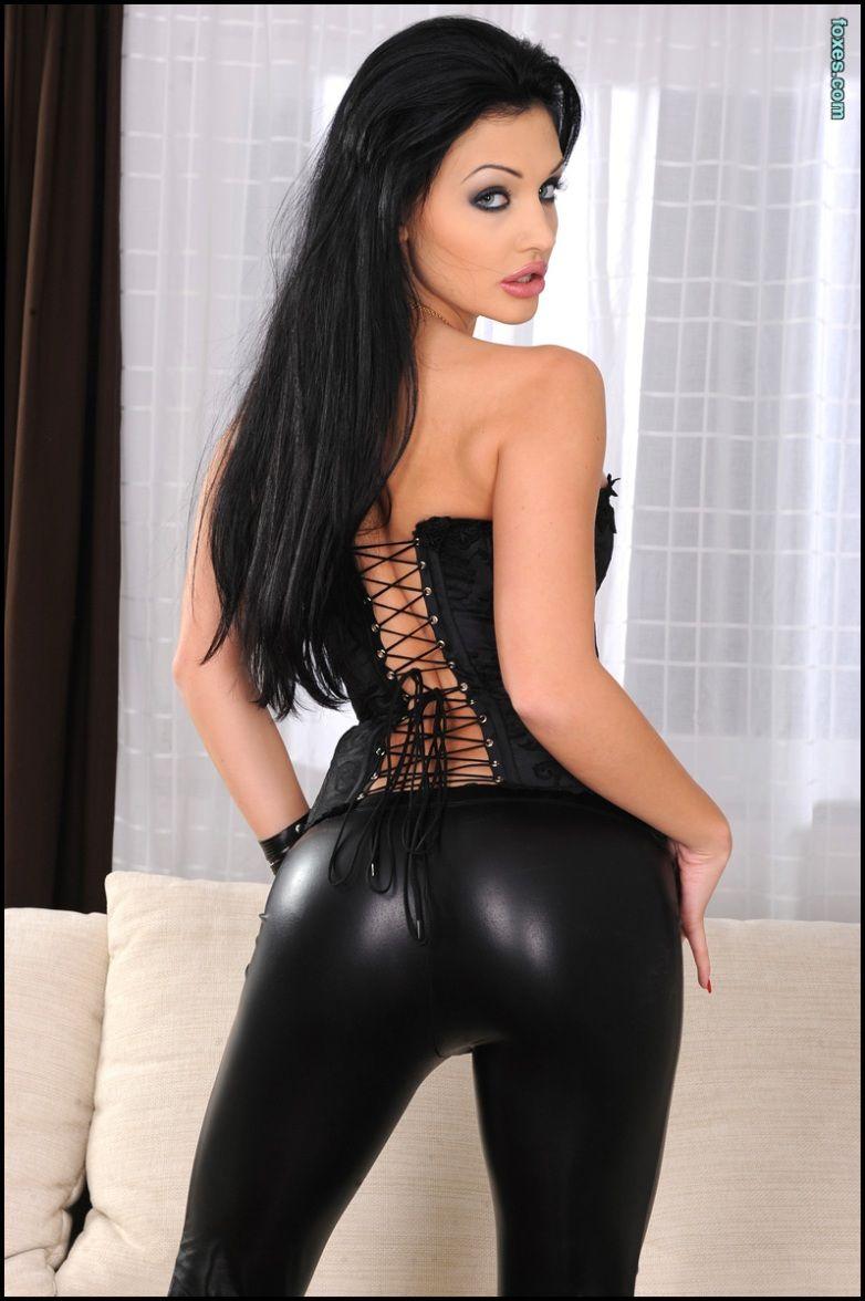 ocean leather Aletta pants black