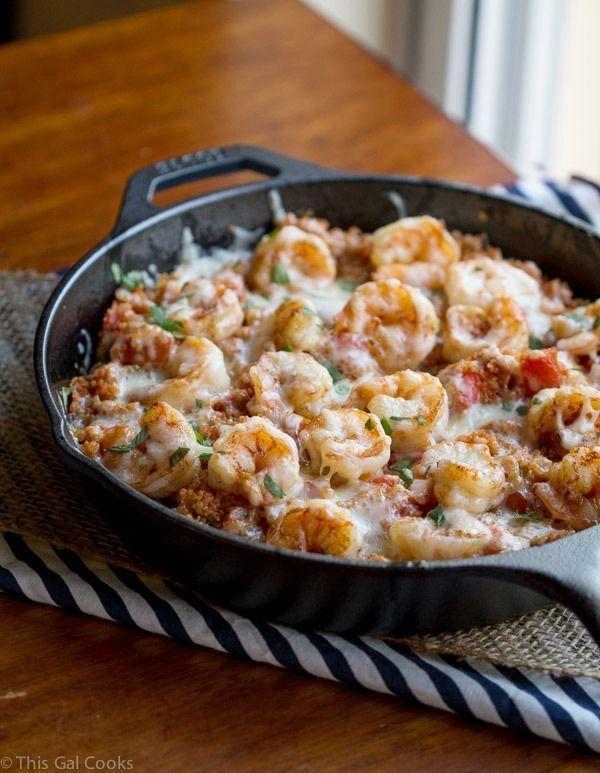 Spicy Cajun Shrimp and Quinoa Casserole ~ This looks so good!
