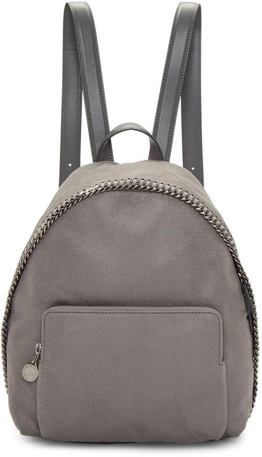 2f9dd6cfafe Stella McCartney Grey Small Falabella Shaggy Deer Backpack