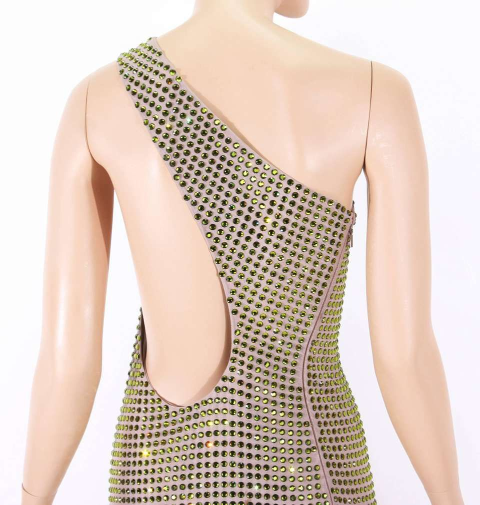 e5ceaed39 For Sale on 1stdibs - Tom Ford for Gucci Documented Fully Crystal  Embellished One Shoulder Dress