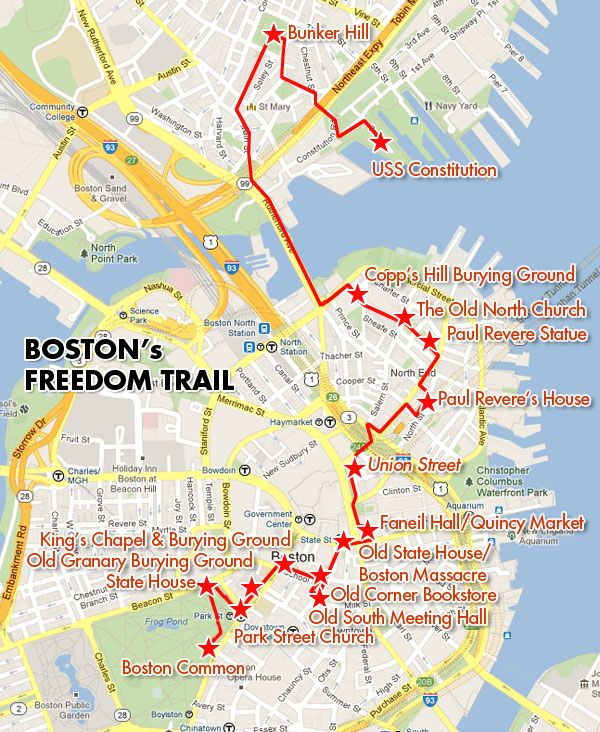 Freedom Trail Boston Map Image result for freedom trail map (With images) | Freedom trail