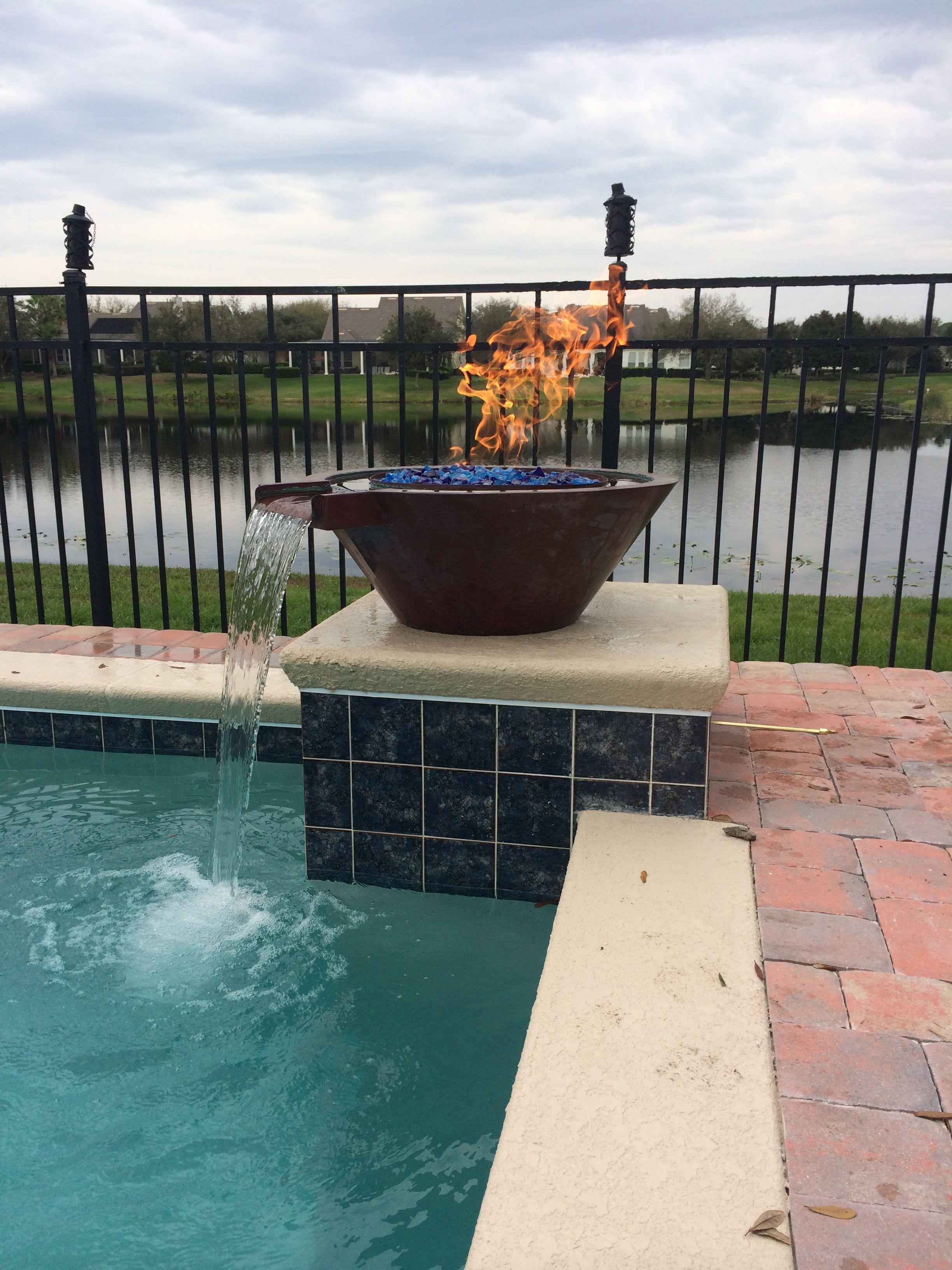 Bobe Copper Fire Water Bowl Fire Bowls Fire Outdoor Decor