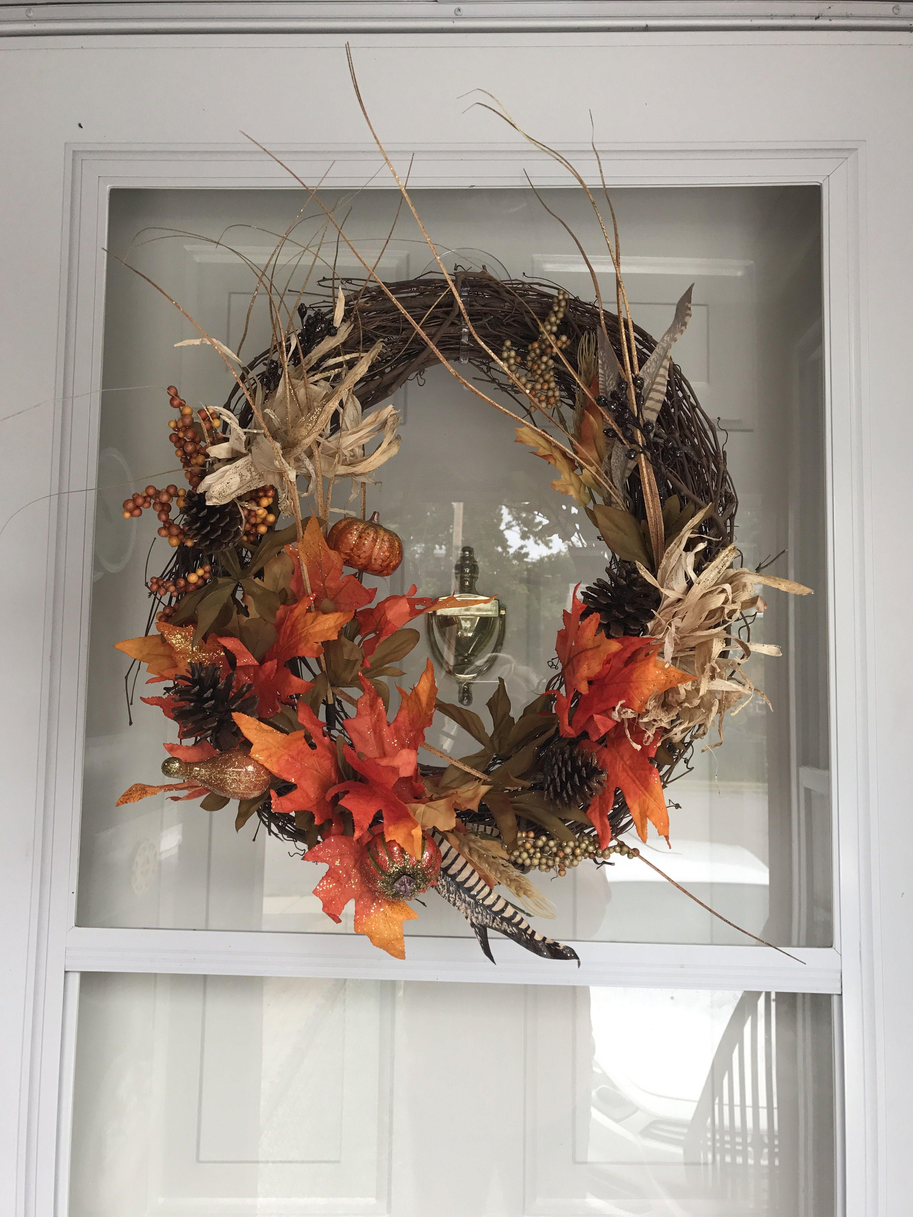 Diy Fall Wreath And Dry Flower Arrangement - Forever Dandelion