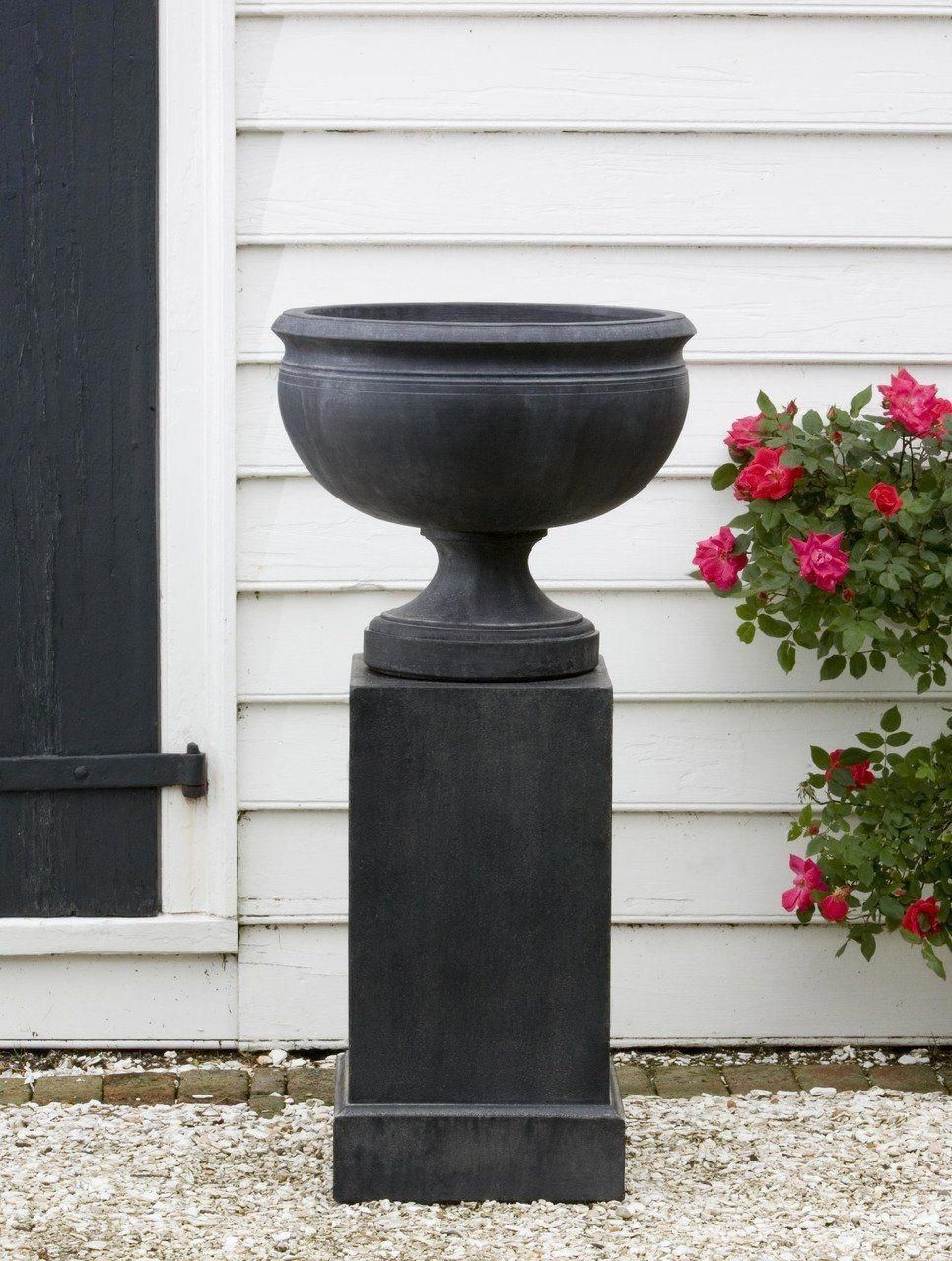 Williamsburg Plantation Urn Garden Planter with Tall Classic Pedestal is part of Tall Container garden -