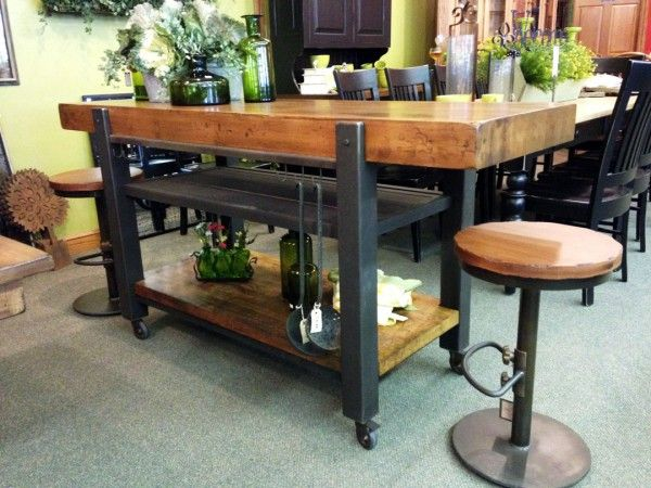 Kitchen Industrial Kitchen Island And Mobile Kitchen Island Ideas ...