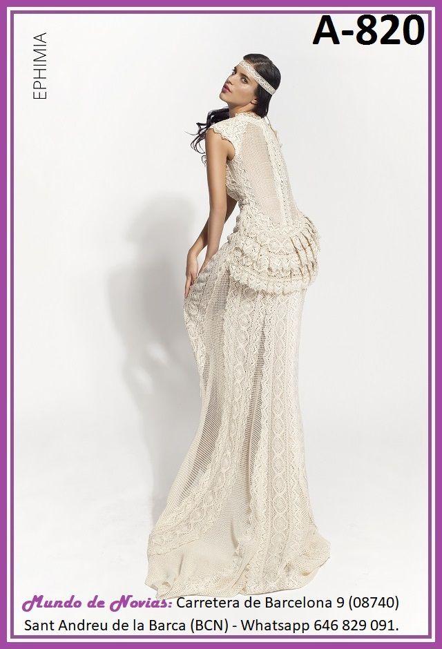 exclusivo y original vestido de novia bohemio y vintage realizado a
