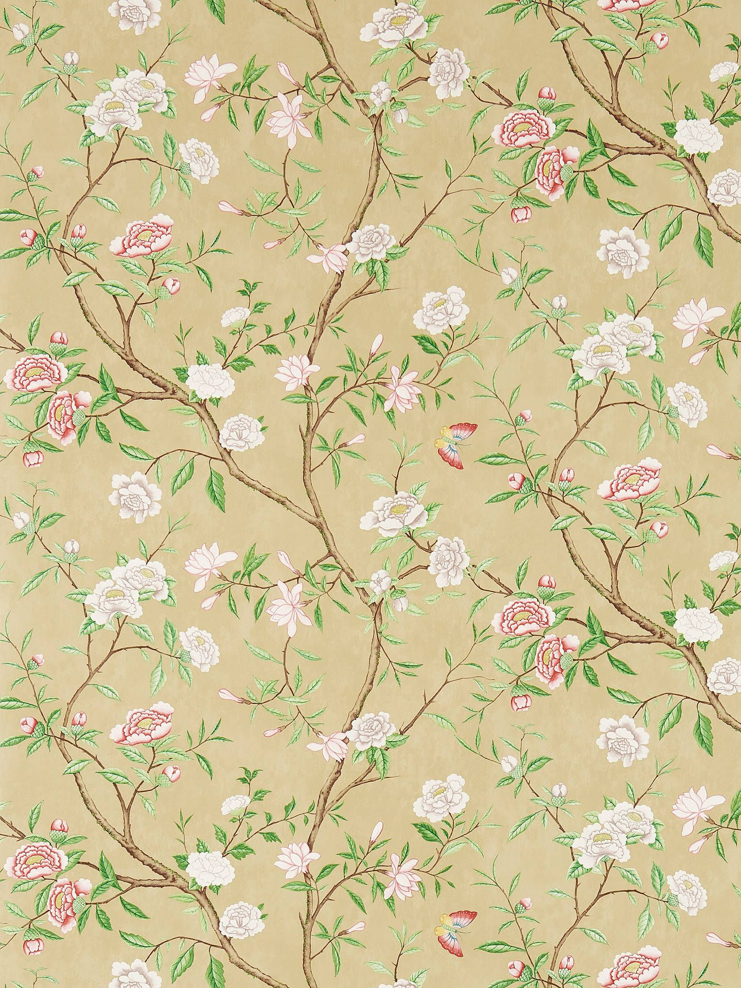 Zoffany Nostell Priory Wallpaper Old Gold Green Zw00311418 In