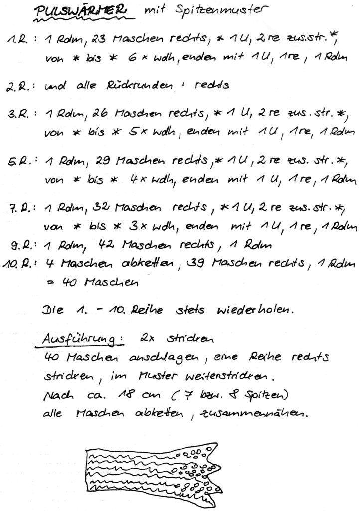 kostenlose Anleitung Handstulpen   Kreativ am Moniberg   häkeln und ...