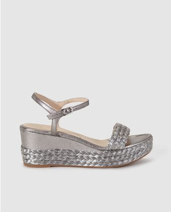 PlataShoes Color En Unisa De Mujer Piel Sandalias Cuña stQdChr