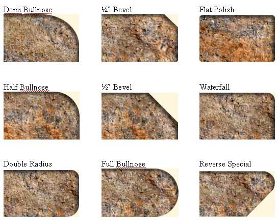 Most Popular Granite Countertop Edges Granite Countertops