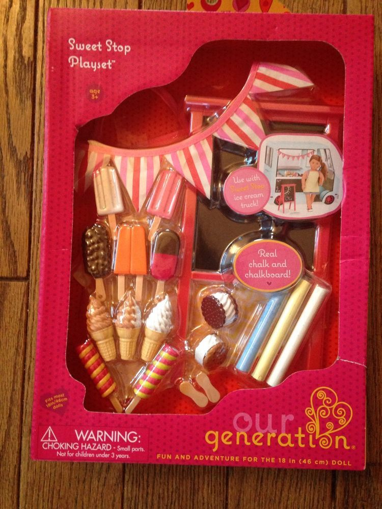 Our Generation Sweet Stop 18 Quot Doll Accessory Set Ice Cream