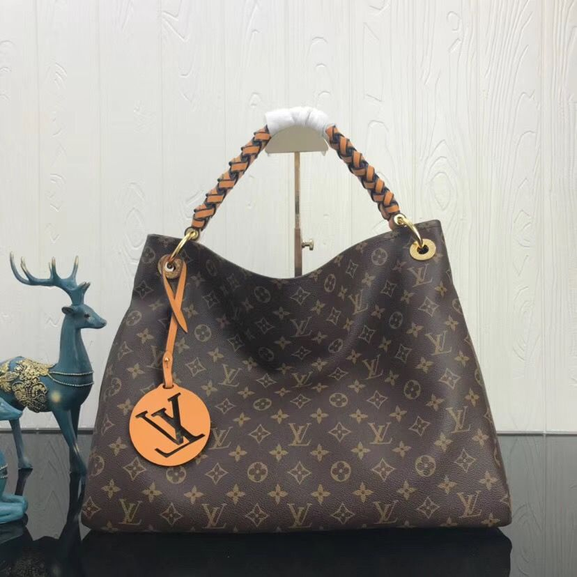 Add to your collection a Louis Vuitton Monogram Canvas Artsy MM with  braided handle M43994. Big Sale at USD 326. Free International Shipping by  courier. 5cf2f5f54e404