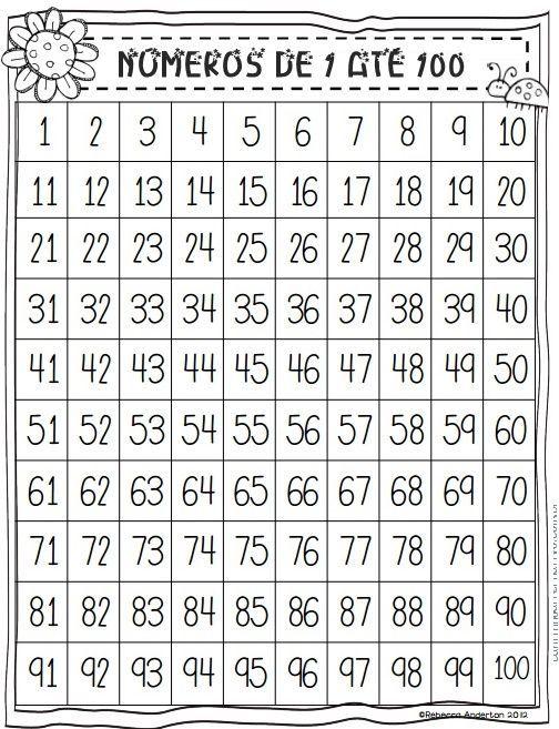fichas de numeros del 1 al 50 para imprimir - Buscar con Google ...