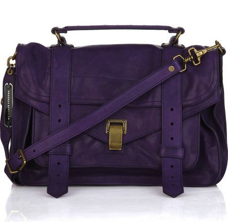 Look stylish and represent Naz with this awesome purple satchel.