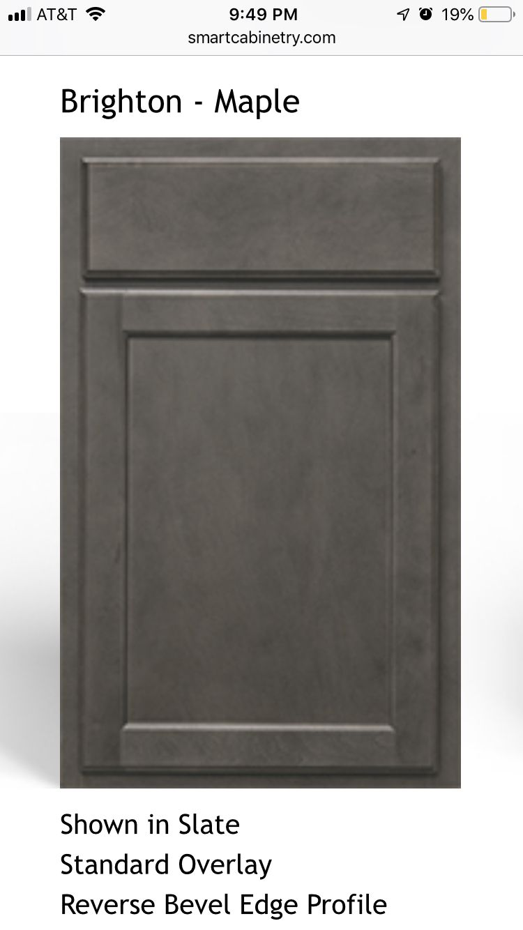 Smart Cabinet Slate From Williams Kitchen And Baths For Kitchen Island Kitchen And Bath Beveled Edge Slate