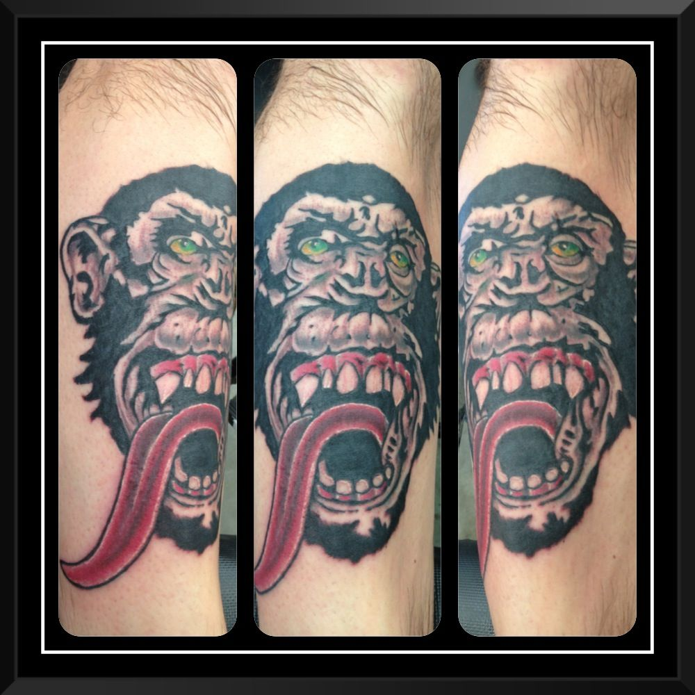 Gas monkey monkey tattoos gas monkey tattoo stencils