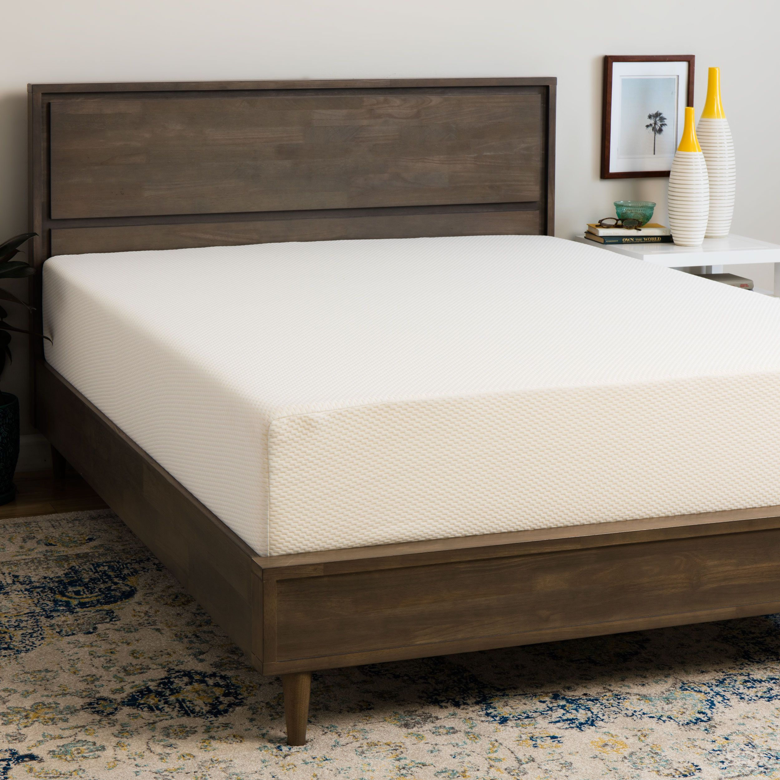 Select Luxury Medium Firm 14 Inch Twin Size Memory Foam Mattress Blue