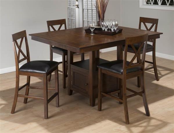 Olsen Casula Oak Wood Faux Leather Bar Set