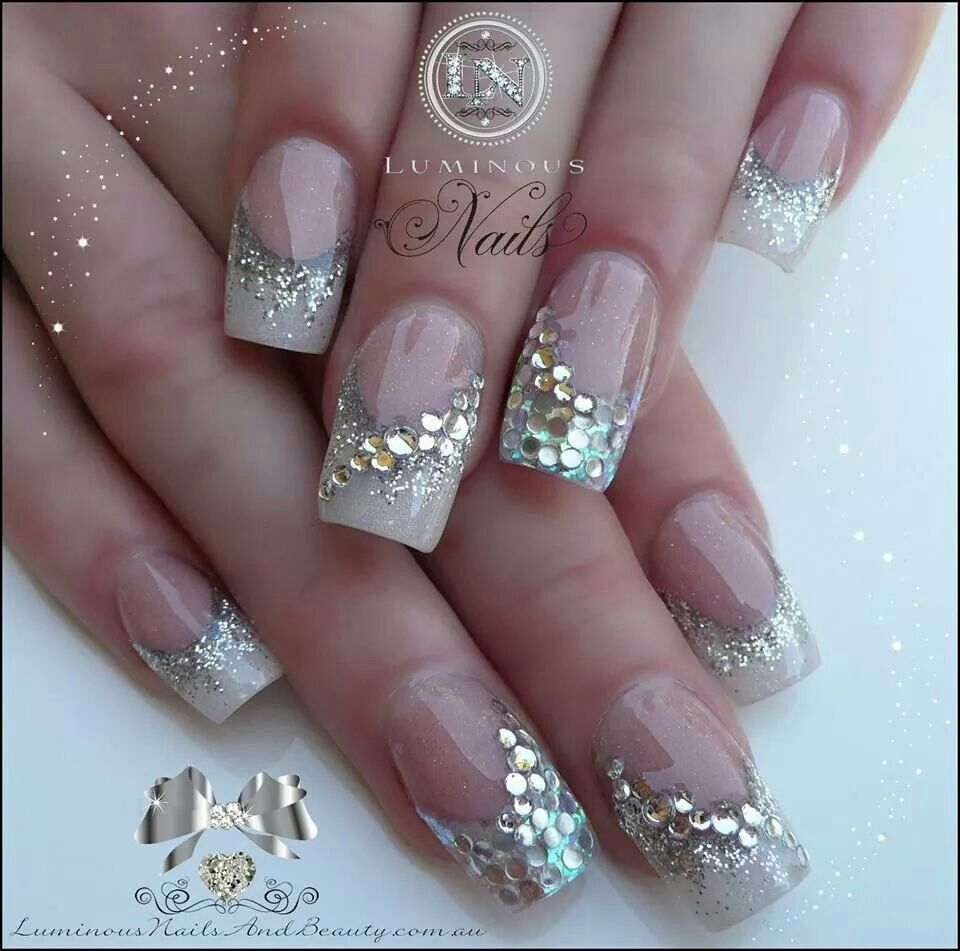 Bling french manicure nail art pinterest manicure luminous nails and beauty gold coast queensland acrylic nails gel nails acrylic gel nail art design gallery acrylic gel nail design photos prinsesfo Images