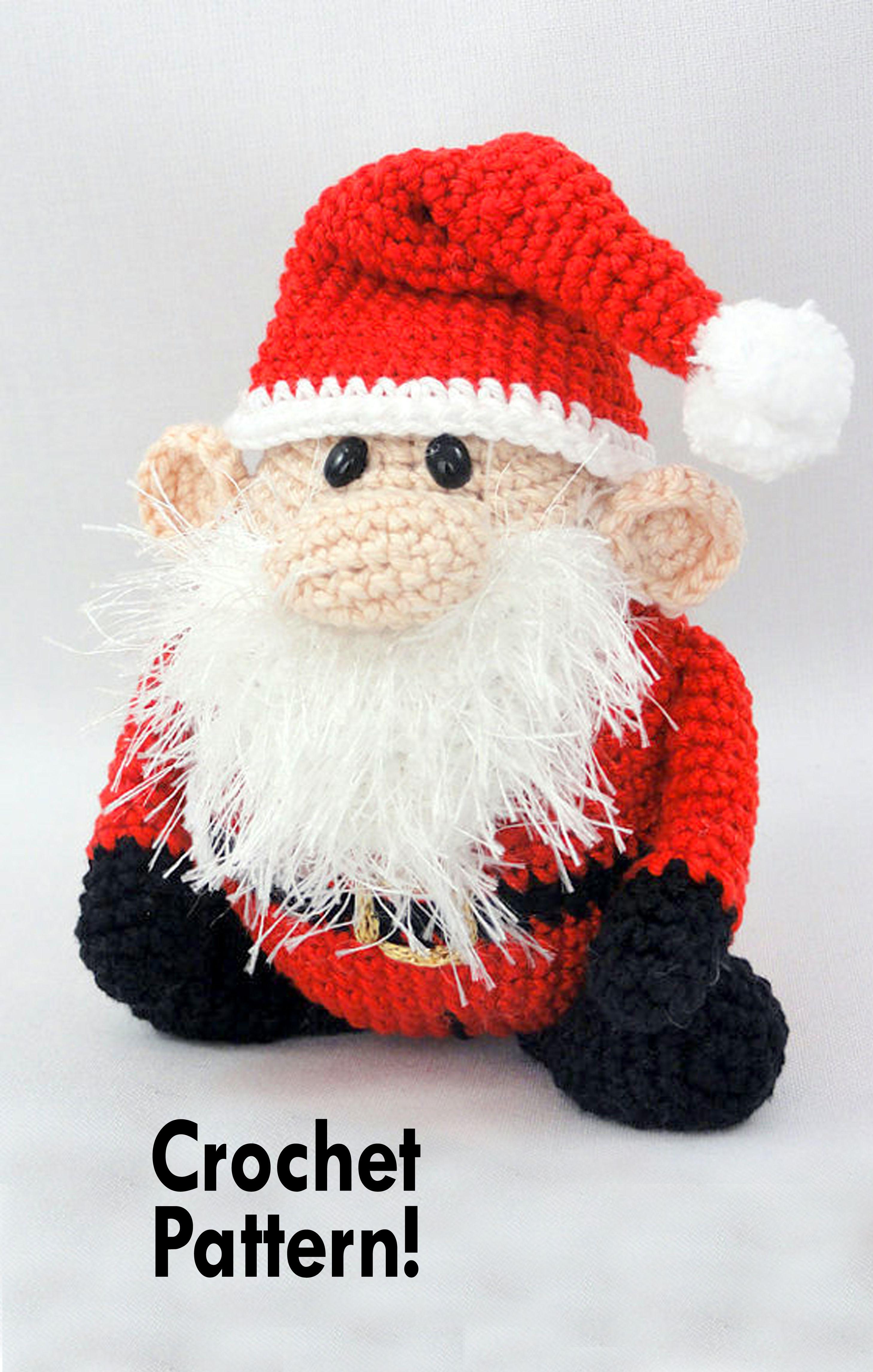 Amigurumi Crochet Pattern - Santa Claus - XS Edition - English ...