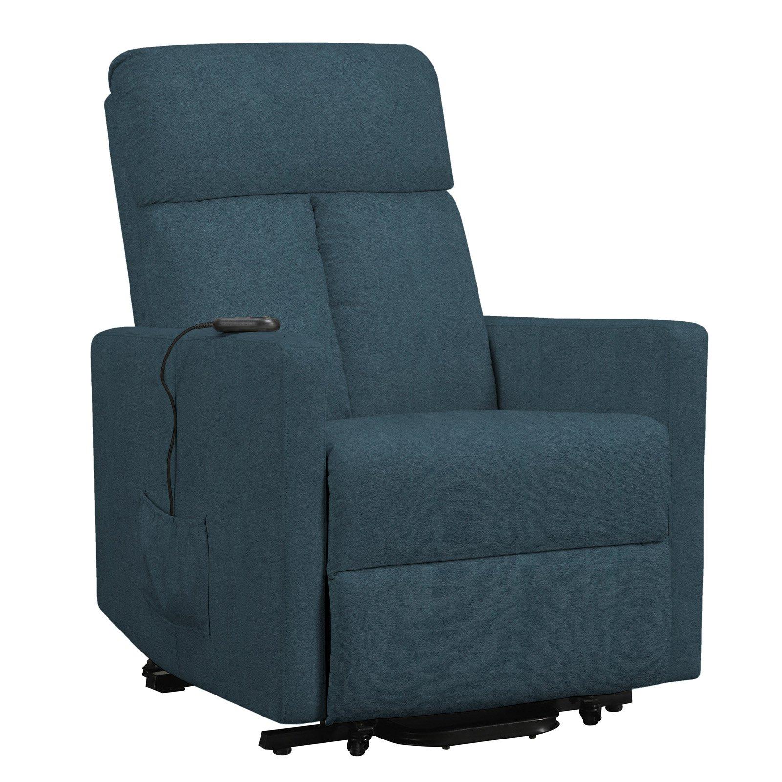 Pleasant Prolounger Microfiber Power Lift Chair Recliner Blue Dailytribune Chair Design For Home Dailytribuneorg