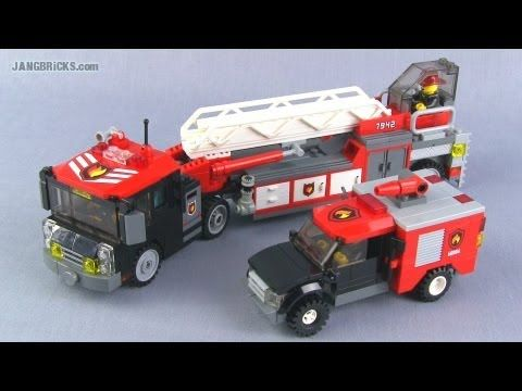 Lego City 4208 Fire Truck Review Youtube Lego Stuff Pinterest