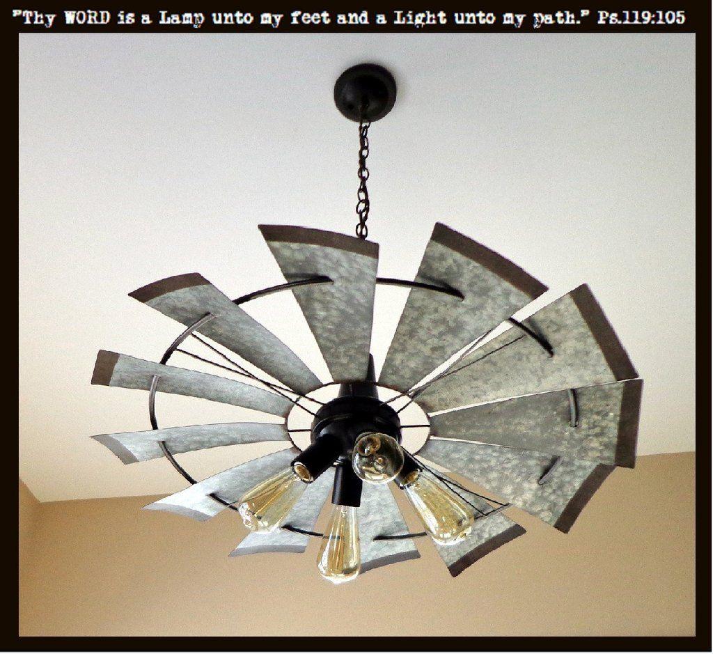 Windmill Farmhouse Chandelier Light