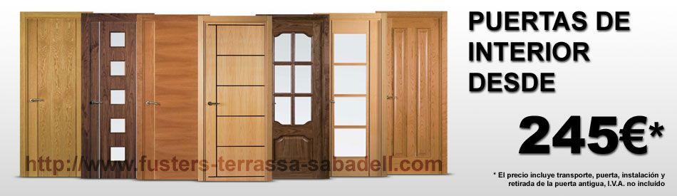 Oferta en puertas de madera maciza para interior en for Puertas interiores antiguas madera