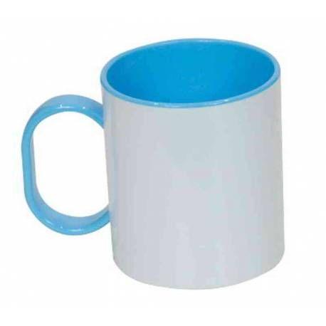 Taza de plástico personalizada resistente a caídas. Ideal para niños.