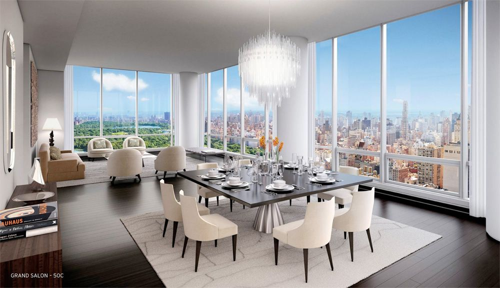 More Interior Renderings Unveiled For Midtownu0027s One57. Design RoomDining ...