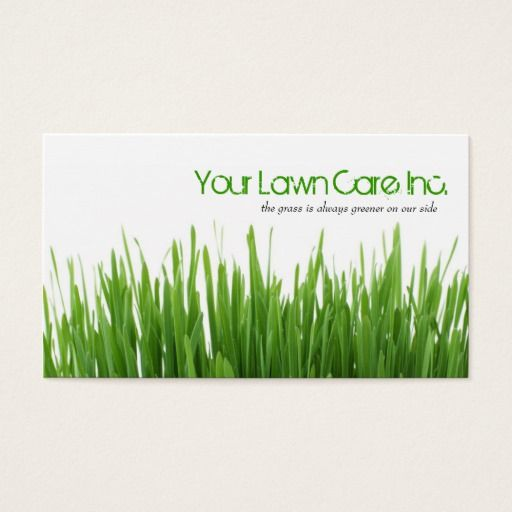 Lawn Care Landscaping Business Card Lawn care, Lawn and Business cards - lawn care business cards