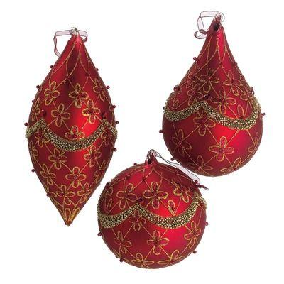 7 sets (21)    CBK Beaded Ornament