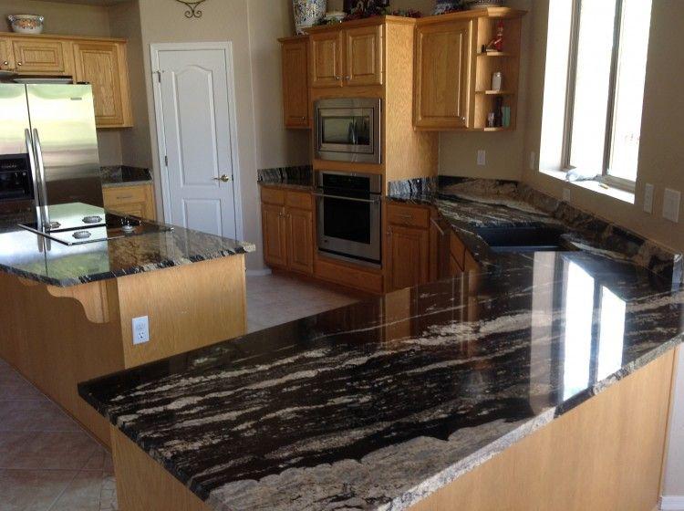 interesting kitchen granite countertops | Unique, Dark Granite Countertops and Cabinets | Kitchen ...
