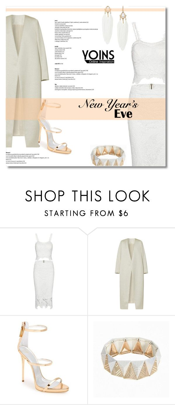 """""""Yoins #21 (White on White)"""" by antemore-765 ❤ liked on Polyvore featuring E L L E R Y and Giuseppe Zanotti"""