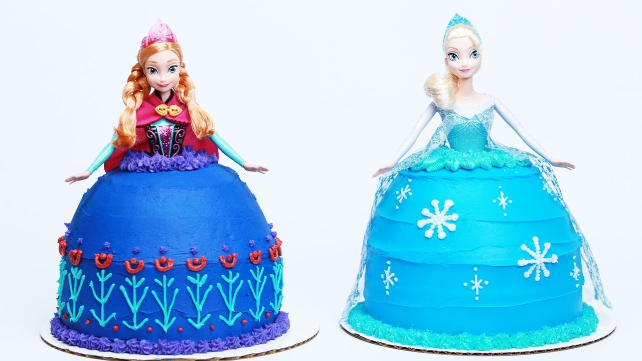 Frozen elsa doll cake  HOW TO MAKE A FROZEN PRINCESS CAKE  NERDY NUMMIES playlist