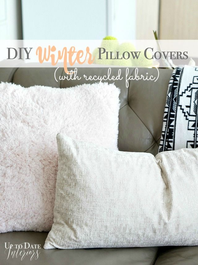 How To Sew A Pillow Cover Prepossessing Diy Winter Pillow Covers  Pillows And Interiors Design Inspiration