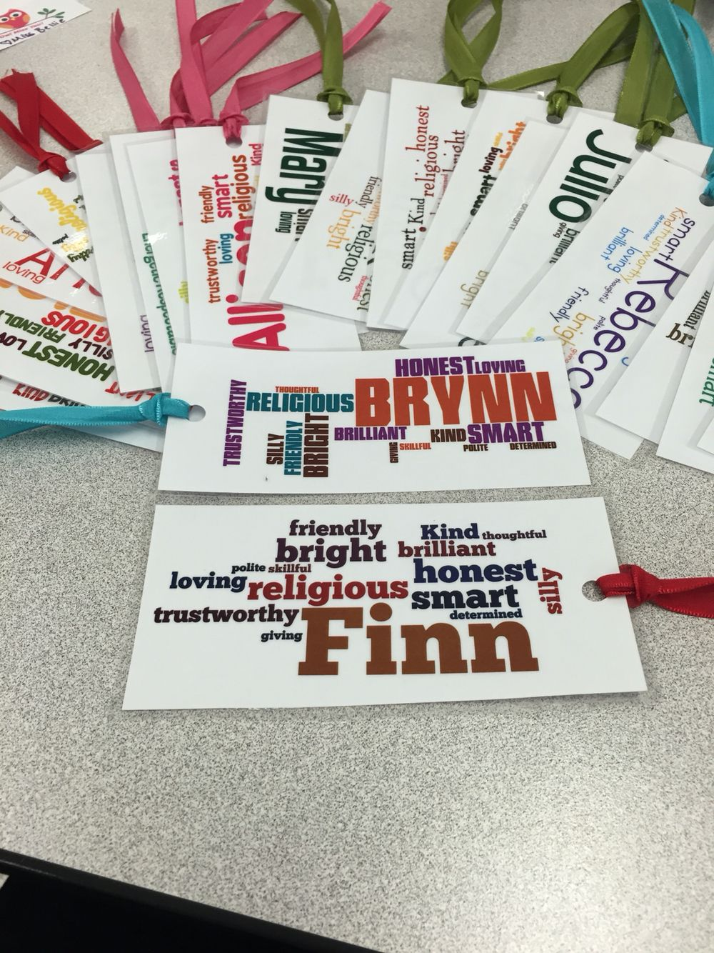 I made these cute bookmarks for my students as a goodbye t