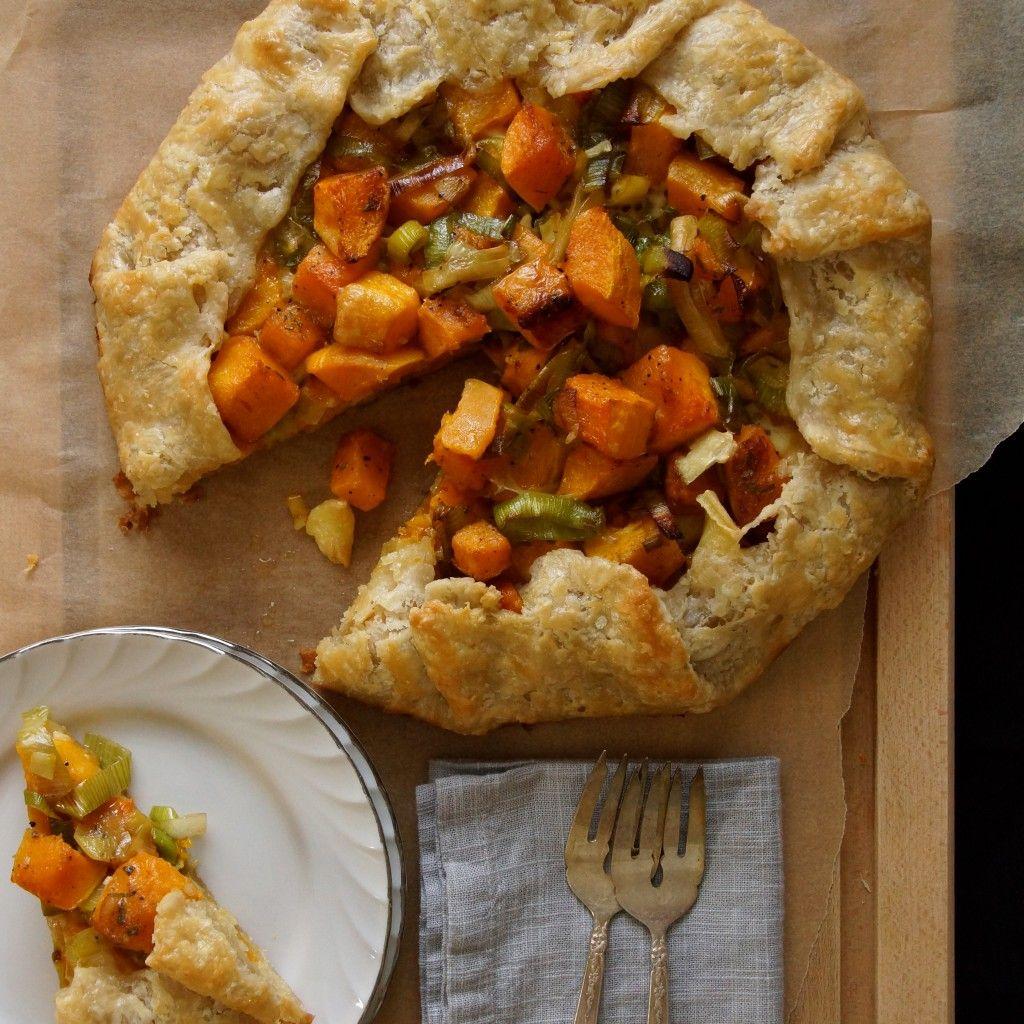 Butternut Squash, Leek Brie Galette | Savory tarts | Pinterest ...
